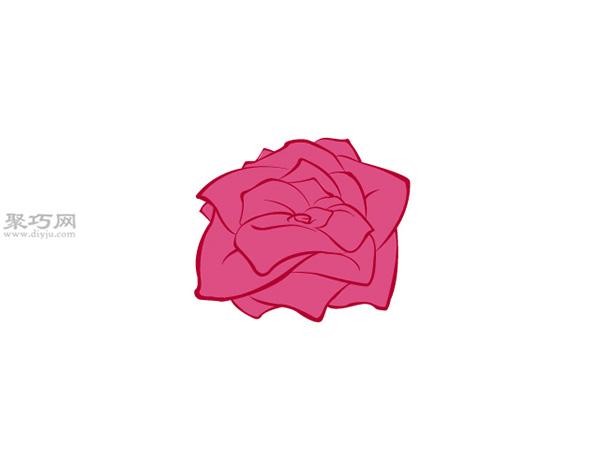 没有茎的玫瑰画法教程 5