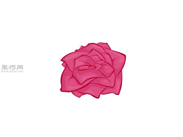 没有茎的玫瑰画法教程 6