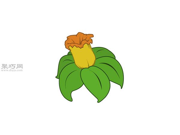 水仙花画法步骤 10