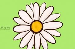 简单的菊花画法教程 教你怎么画花