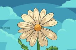 基本的花画法步骤 一起学如何画花