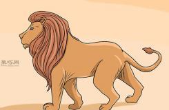 普通狮子的画法 来看怎样画狮子