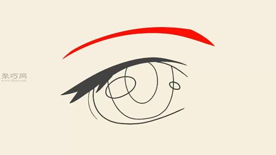 女性的眼睛画法步骤