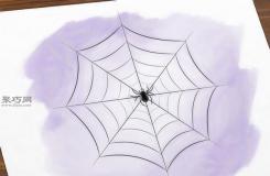 画蜘蛛网的步骤 来看画蜘蛛网画法步骤
