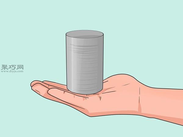 手工制作锡罐喂食器图片教程 4