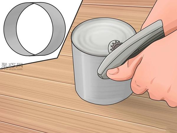 手工制作锡罐喂食器图片教程 5
