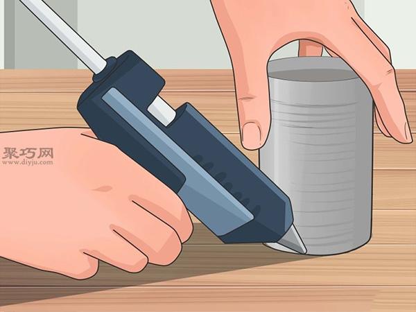 手工制作锡罐喂食器图片教程 9