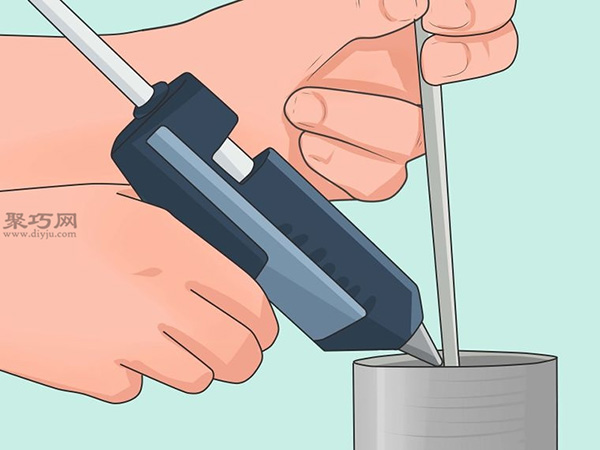 手工制作锡罐喂食器图片教程 11