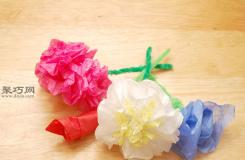 怎么样扭出一朵纸巾花 用纸巾折朵花图片教程