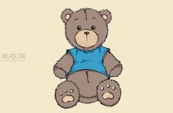 卡通小熊玩偶画法步骤 一起学如何画小熊玩偶