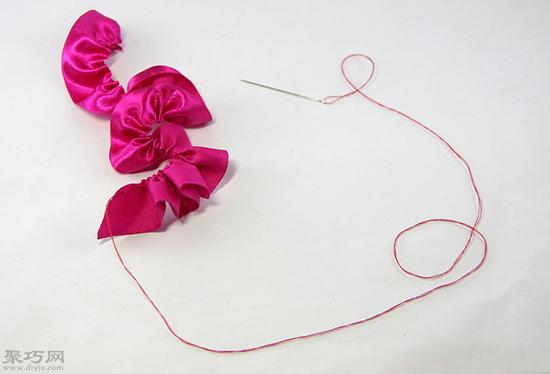 如何做玫瑰形缎带结 21