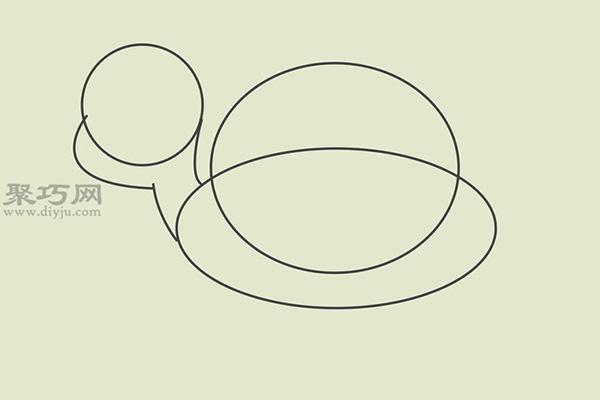 画卡通乌龟的画法 2