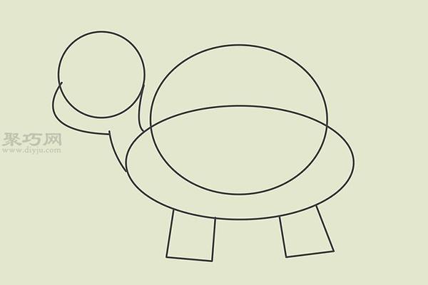 画卡通乌龟的画法 3