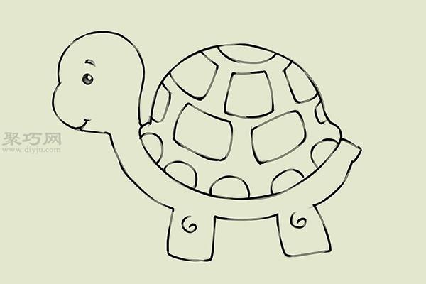 画卡通乌龟的画法 8