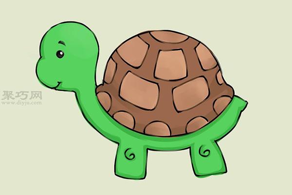 画卡通乌龟的画法 9