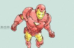 飞行的钢铁侠画法步骤 来看怎样画钢铁侠