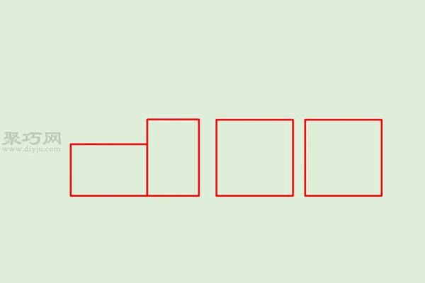 画传统卡通火车的画法步骤 8