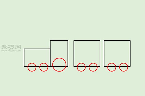 画传统卡通火车的画法步骤 9