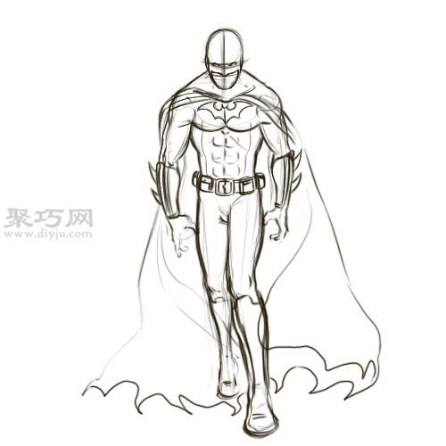 怎么画蝙蝠侠的头罩