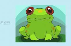 卡通青蛙的画法教程 一起学画青蛙步骤