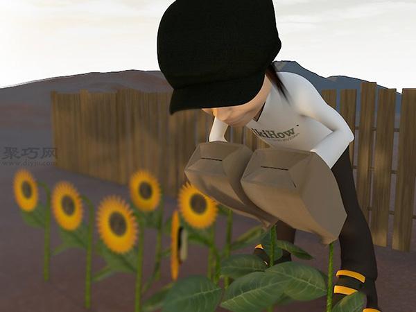 收获葵花籽图片教程 6