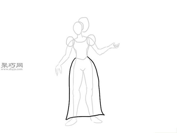 中世纪连衣裙的画法 3