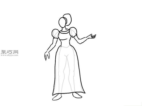 中世纪连衣裙的画法 4