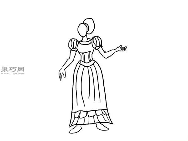 中世纪连衣裙的画法 6