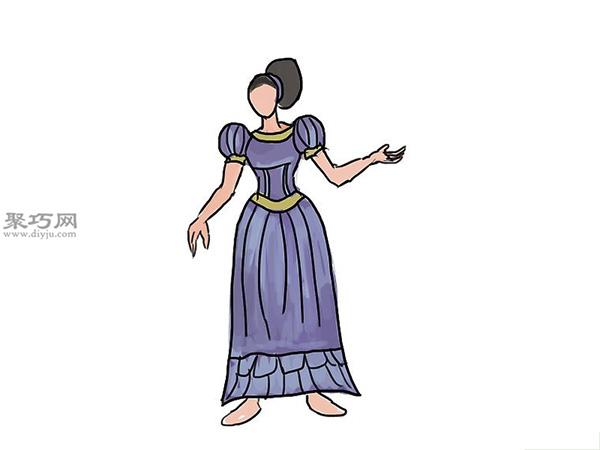 中世纪连衣裙的画法 7