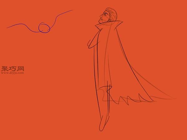 让吸血鬼和蝙蝠齐飞画法教程 7
