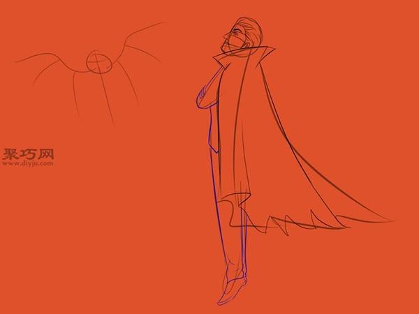 让吸血鬼和蝙蝠齐飞画法教程 9