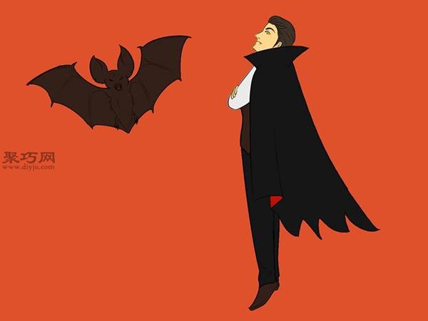 让吸血鬼和蝙蝠齐飞画法教程 19
