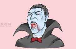 画简单吸血鬼头像的步骤 来看画吸血鬼画法步骤