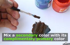 了解颜色混合的原理 来看用三原色调成棕色的方法