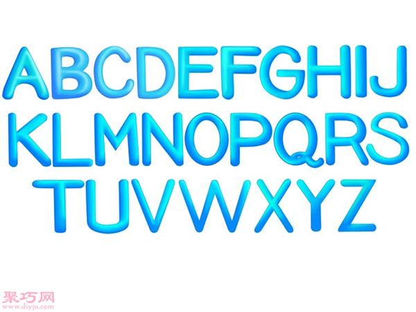 画A-Z立体字母 96