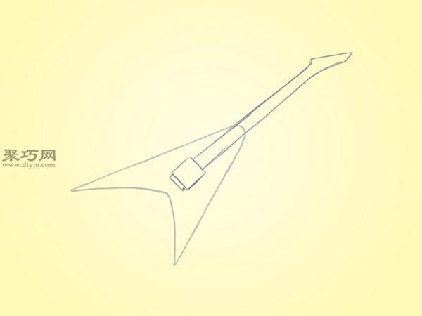 V型电吉他的画法 2