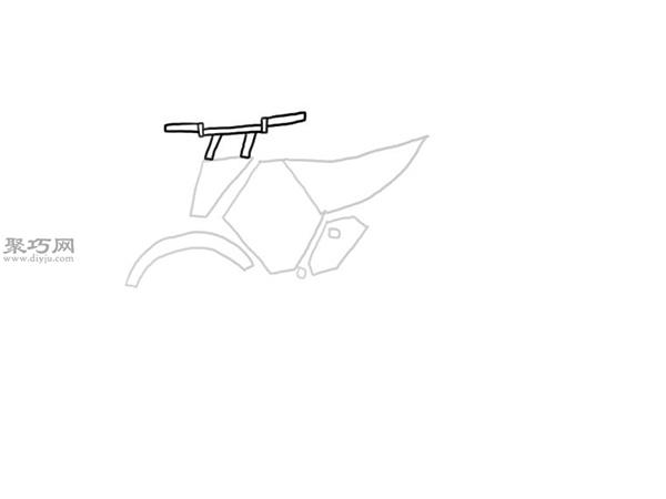 山地摩托车的画法 5