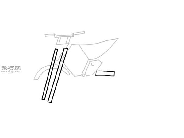 山地摩托车的画法 6