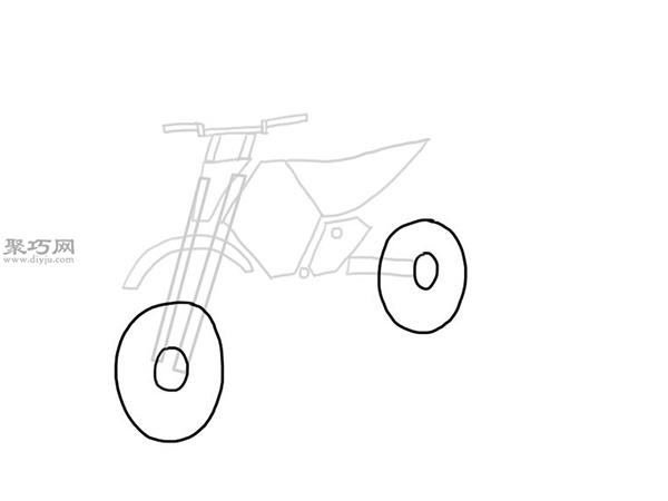山地摩托车的画法 7