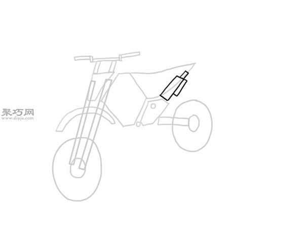 山地摩托车的画法 8