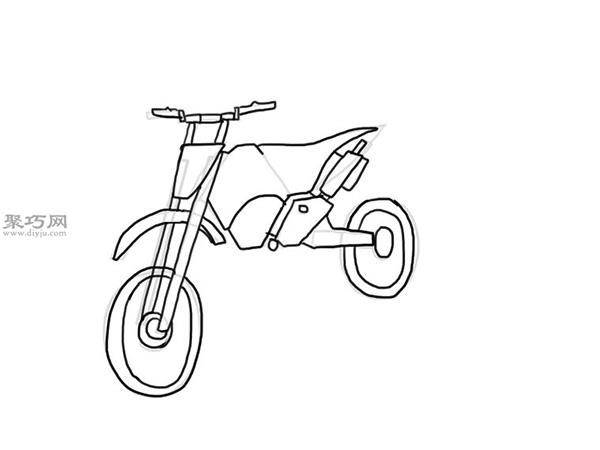 山地摩托车的画法 9