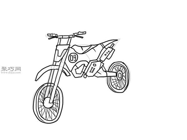 山地摩托车的画法 10