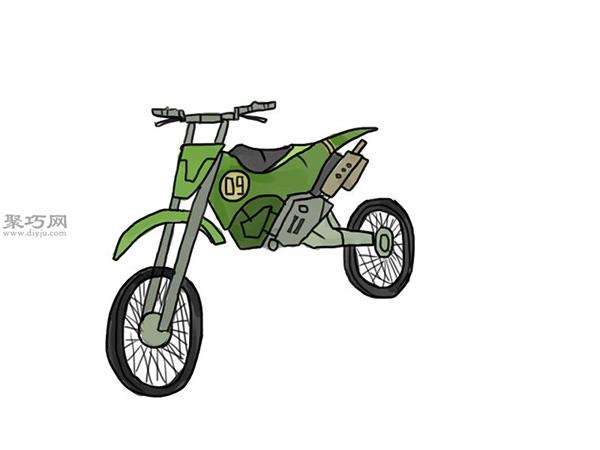 山地摩托车的画法 12