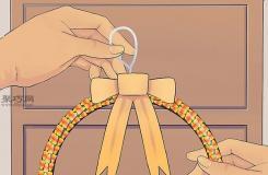 手工制作糖果玉米花环教程图解 一起学万圣节花环如何做