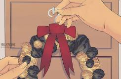 手工DIY绒球花环图解教程 来看如何做万圣节花环