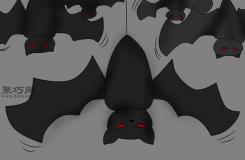 来看万圣节拍动翅膀的蝙蝠 画法步骤万圣节装饰如何做