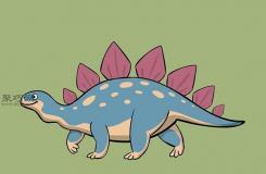 剑龙的画法 教你怎么画恐龙