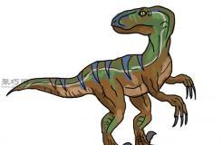 迅猛龙画法步骤 教你画恐龙画法