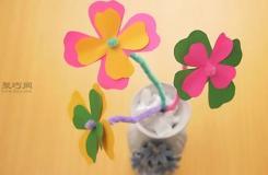 手工DIY层状纸花方法 一起学如何DIY纸花