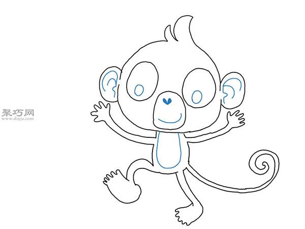 卡通猴子画法步骤 15